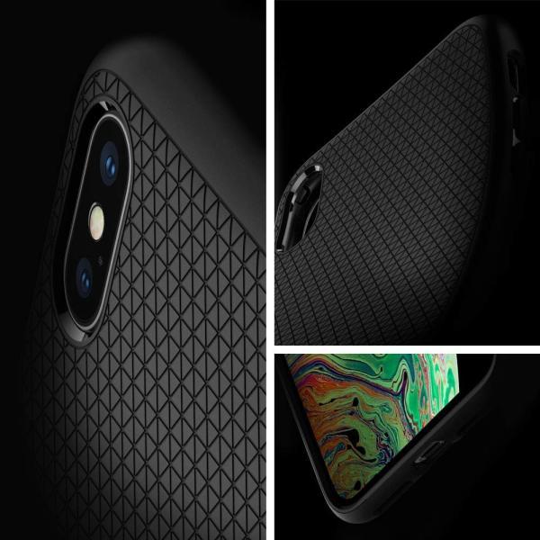 【Spigen】 スマホケース iPhone XS ケース/iPhone X ケース 5.8インチ TPU 米軍MIL規格取得 耐衝撃 リキッド・エアー 057CS22123 (マット・ブラック)|atak|03