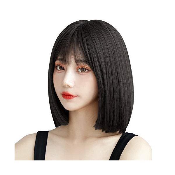 ウィッグ ショート Candybay ボブ フルウィッグ カツラ ボブショート パッツン 小顔 甘い 軽い 耐熱 180度 高温 つけ毛 wig スイ