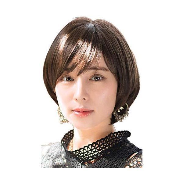 ウィッグ ティラミスショート 日本製ファイバー使用 大人かわいいショートヘア 全9色 耐熱 自然 ショートカット ショートボブ 黒髪 - #03CFM