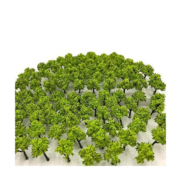 森林選べる色数量50本100本 DauStage Nゲージジオラマ鉄道建築模型用樹木風景3cm04薄緑50本