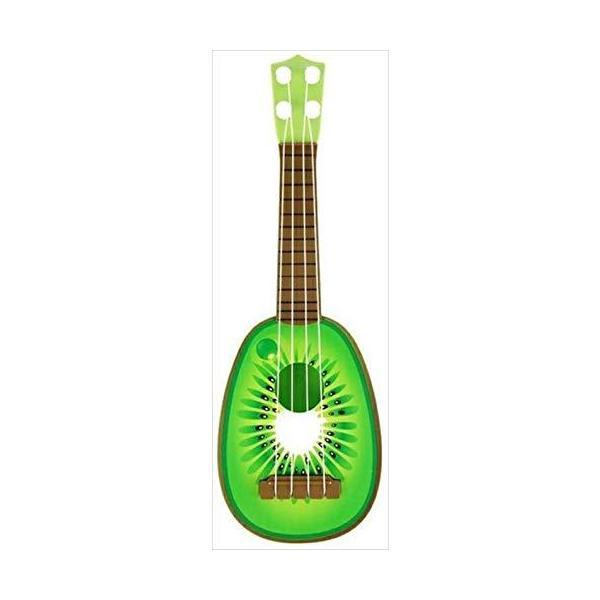 リタプロショップR フルーツギター 子供 ミニ 果物 ウクレレ かわいい おもしろ 玩具 (キウイ)