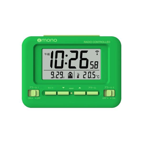 96dd373801 ... 目覚まし時計 電波 デジタル カレンダー 温度 表示 おしゃれ 多機能 スヌーズ ダブルアラーム iimono オリジナル ...