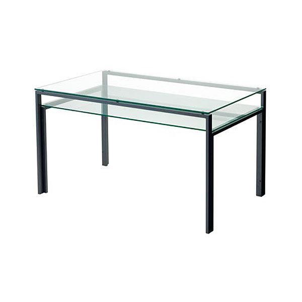 ダイニングテーブル ガラス製 DT-ダイニングテーブル W1300タイプ(天板クリアー・棚板クリアー) atease 02