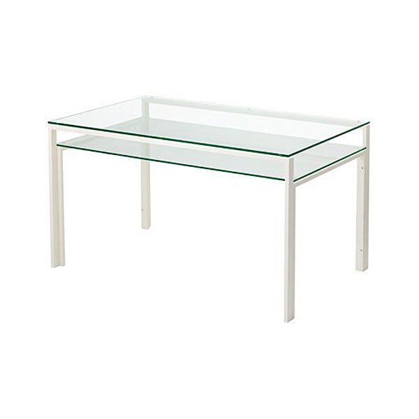 ダイニングテーブル ガラス製 DT-ダイニングテーブル W1300タイプ(天板クリアー・棚板クリアー) atease 03