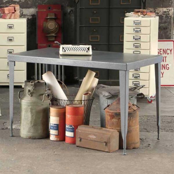 ダイニングテーブル ワーキングテーブル ダルトン LONG TABLE Rectangle ロングテーブル レクタングル 150×80cm スチール製|atease