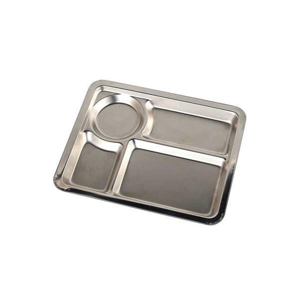 ランチプレート ワンプレート 仕切り皿 ダルトン ステンレス コンボ プレート Aタイプ シンプル ミリタリー風 キャンプ バーベキュー アウトドア食器|atease