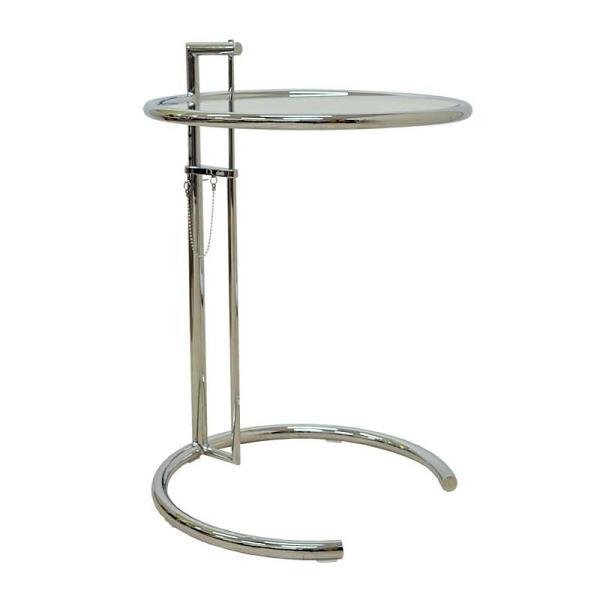 サイドテーブル E1027 アイリーン・グレイ カクテルテーブル 強化ガラス 高さ調整可能 リプロダクト シンプルモダン|atease