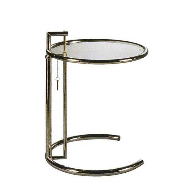 サイドテーブル E1027 アイリーン・グレイ カクテルテーブル 強化ガラス 高さ調整可能 リプロダクト シンプルモダン|atease|02