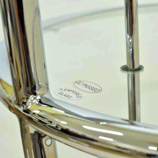 サイドテーブル E1027 アイリーン・グレイ カクテルテーブル 強化ガラス 高さ調整可能 リプロダクト シンプルモダン|atease|03