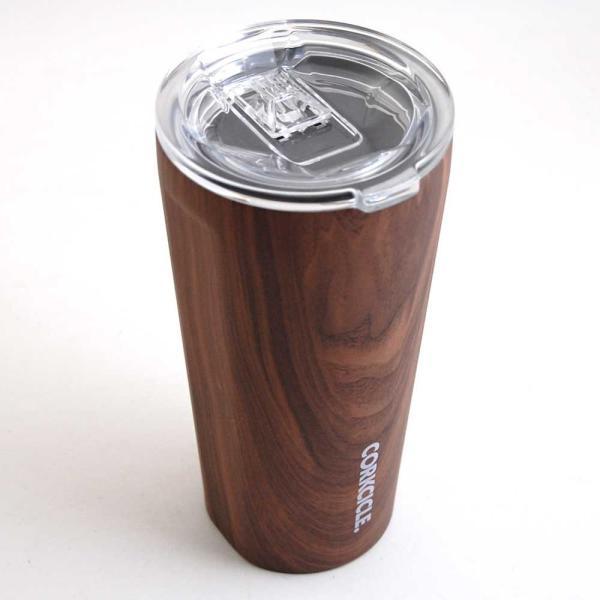 保冷 保温 カップ サーモマグ ステンレスタンブラー コークシクル タンブラー 16oz 470ml 木目調 ウォールナットデザイン|atease|02