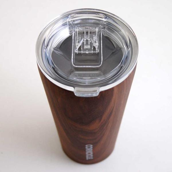 保冷 保温 カップ サーモマグ ステンレスタンブラー コークシクル タンブラー 16oz 470ml 木目調 ウォールナットデザイン|atease|04