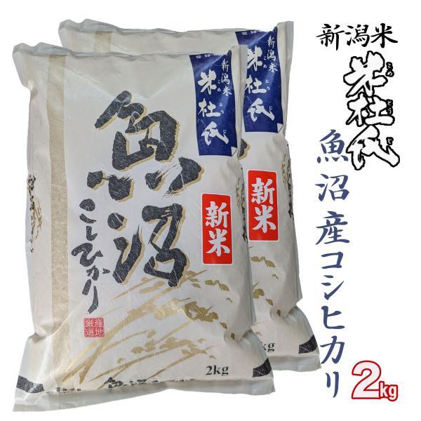 新米 白米4kg(2kg×2) 新潟 魚沼産 コシヒカリ (十日町指定) 米杜氏 環境保全 契約 栽培米(新潟米 お米 令和3年産 R3)