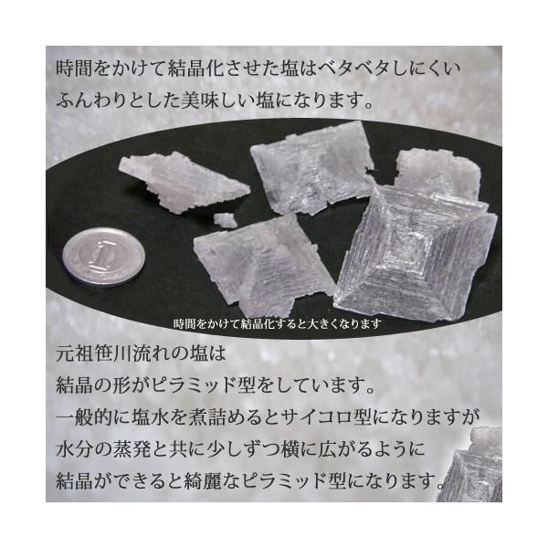 海水塩 笹川流れの塩 180g×6 チャック付 日本海 清海水使用 国産天然塩 自然塩 海水塩|atechigo|04