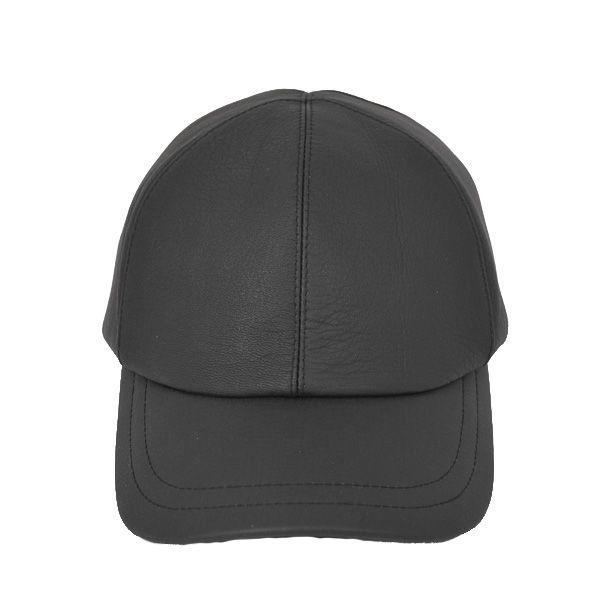 帽子 鹿革(エゾシカ) キャップ タートル型 ブラック atelier-doraneko 02
