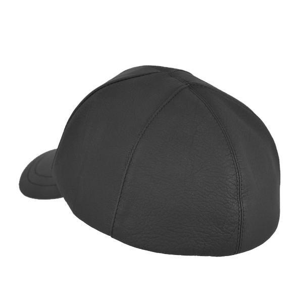 帽子 鹿革(エゾシカ) キャップ タートル型 ブラック atelier-doraneko 03