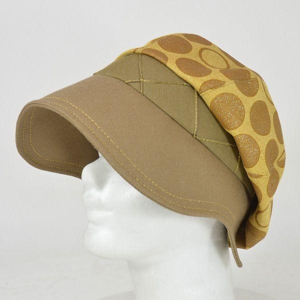 帽子 レディース イエロードットキャスケット|atelier-doraneko
