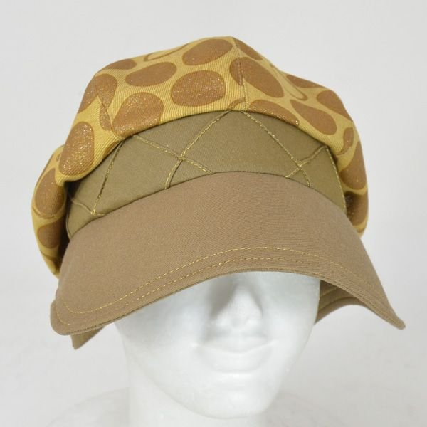 帽子 レディース イエロードットキャスケット|atelier-doraneko|02