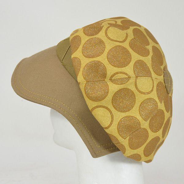帽子 レディース イエロードットキャスケット|atelier-doraneko|03