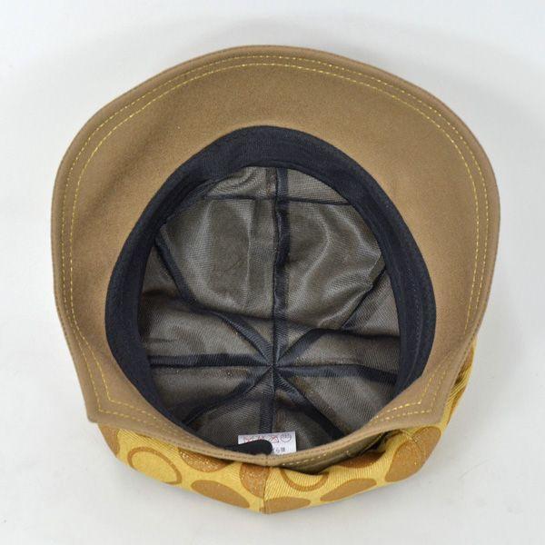 帽子 レディース イエロードットキャスケット|atelier-doraneko|04