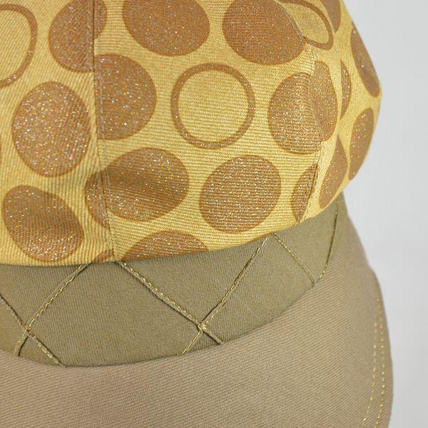 帽子 レディース イエロードットキャスケット|atelier-doraneko|05