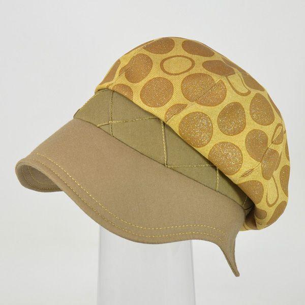 帽子 レディース イエロードットキャスケット|atelier-doraneko|06