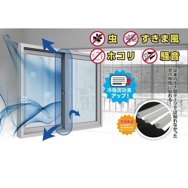 スキマプロテクト 隙間風対策 風防止 テープ すき間風ストッパー 対策 ドア 窓 玄関 貼るだけ簡単 すき間風防ぐテープ Dタイプ Sサイズ|atelier-eirene|10