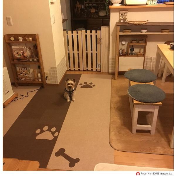 【送料無料】サンコー おくだけ吸着 撥水タイルマット 床暖房対応 フローリング 防滑 犬 フローリング 滑り止め 犬 猫 床 保護マット  脱臼防止 30×30cm 4mm|atelier-eirene|11