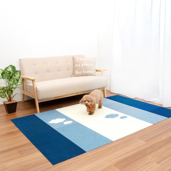 【送料無料】サンコー おくだけ吸着 撥水タイルマット 床暖房対応 フローリング 防滑 犬 フローリング 滑り止め 犬 猫 床 保護マット  脱臼防止 30×30cm 4mm|atelier-eirene|12