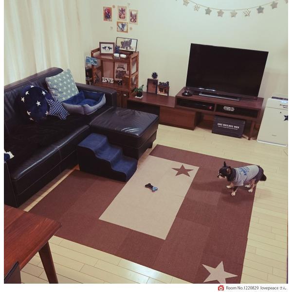 【送料無料】サンコー おくだけ吸着 撥水タイルマット 床暖房対応 フローリング 防滑 犬 フローリング 滑り止め 犬 猫 床 保護マット  脱臼防止 30×30cm 4mm|atelier-eirene|15