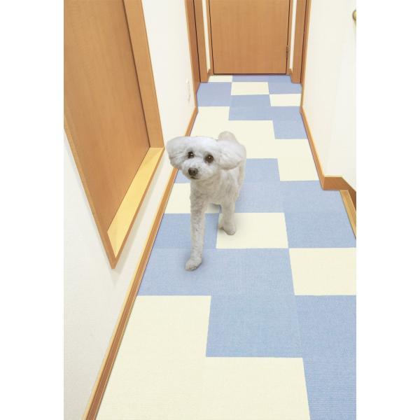 【送料無料】サンコー おくだけ吸着 撥水タイルマット 床暖房対応 フローリング 防滑 犬 フローリング 滑り止め 犬 猫 床 保護マット  脱臼防止 30×30cm 4mm|atelier-eirene|18