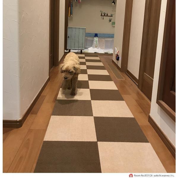【送料無料】サンコー おくだけ吸着 撥水タイルマット 床暖房対応 フローリング 防滑 犬 フローリング 滑り止め 犬 猫 床 保護マット  脱臼防止 30×30cm 4mm|atelier-eirene|19