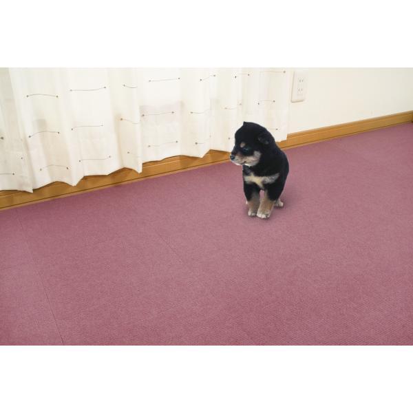 【送料無料】サンコー おくだけ吸着 撥水タイルマット 床暖房対応 フローリング 防滑 犬 フローリング 滑り止め 犬 猫 床 保護マット  脱臼防止 30×30cm 4mm|atelier-eirene|21