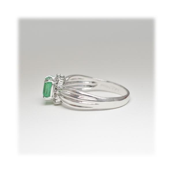 エメラルド リング 指輪 0.5ct 【K18WG】