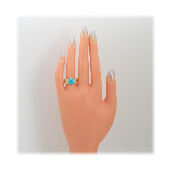 トルコ石 リング 指輪 2.0ct 【K18YG】【ターコイズ】