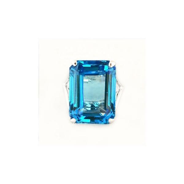 スイスブルートパーズ  リング 指輪 20.0ct 【SV925】 超大粒