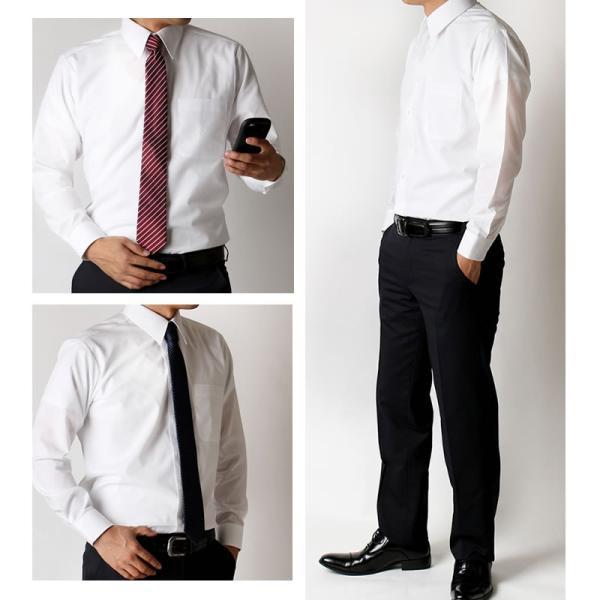 ワイシャツ メンズ 長袖 Yシャツ 白 5枚 セット イージーケア ビジネス 結婚式 葬式 at-ml-sre-1135 宅配便のみ|atelier365|05