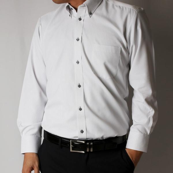 ワイシャツ 5枚 長袖 メンズ Yシャツ ノーアイロン ビジネス シャツ ボタンダウン レギュラー at-ml-sre-1516-g-5f 宅配便のみ atelier365 16