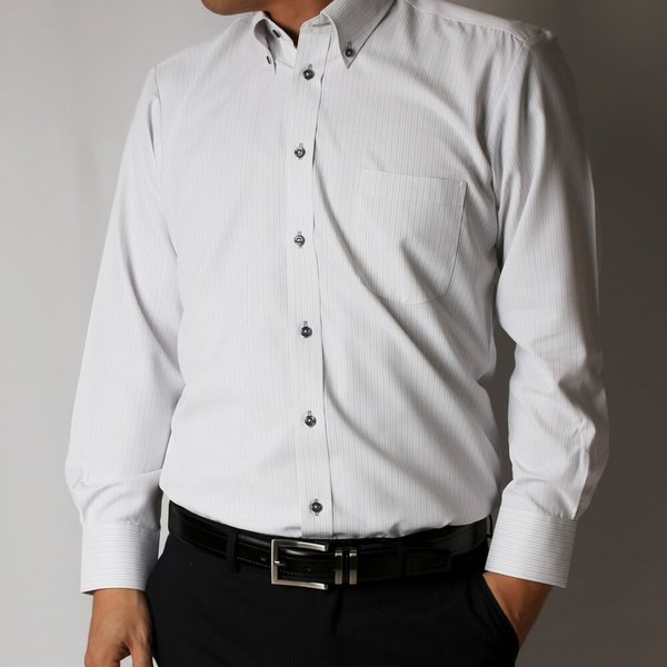 ワイシャツ 5枚 長袖 メンズ Yシャツ ノーアイロン ビジネス シャツ ボタンダウン レギュラー at-ml-sre-1516-h-5f 宅配便のみ|atelier365|16