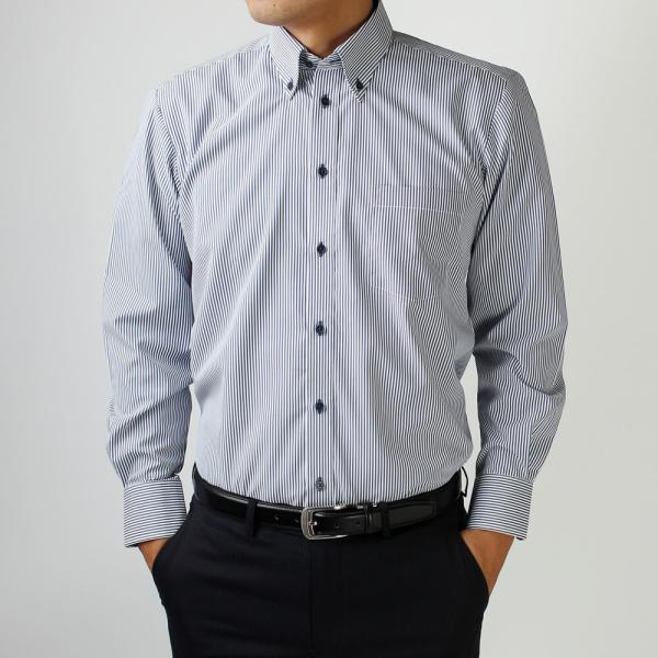 ワイシャツ 長袖 メンズ Yシャツ ノーアイロン ビジネス シャツ ボタンダウン レギュラー  at-ml-sre-1516 宅配便のみ クールビズ clz|atelier365|15
