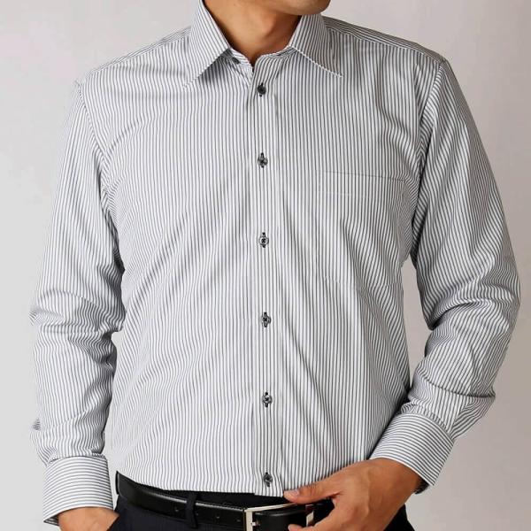 ワイシャツ 長袖 メンズ Yシャツ ノーアイロン ビジネス シャツ ボタンダウン レギュラー  at-ml-sre-1516 宅配便のみ クールビズ clz|atelier365|05