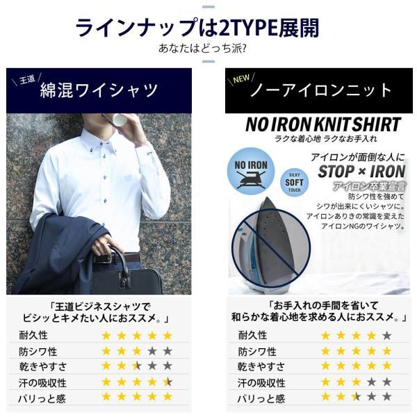 ワイシャツ メンズ 長袖 セット 5枚 Yシャツ ビジネス シャツ スリム ボタンダウン レギュラー at101 宅配便のみ|atelier365|12