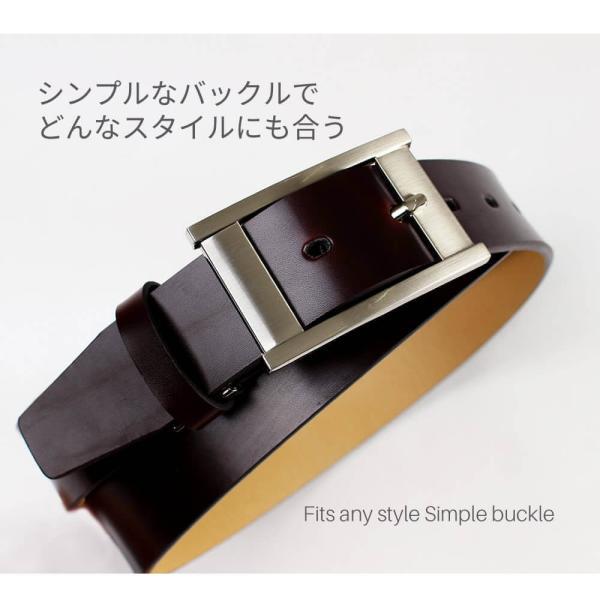 ビジネスベルト ベルト メンズ  本革 革 牛革 belt レザー 紳士 cp1001 メール便で送料無料【10】 クールビズ|atelier365|02