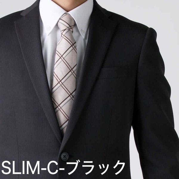 スーツ ビジネススーツ メンズ スリム 2つボタン ストレッチ 洗える ストライプ リクルート 就活 oth-me-su-1595 宅配便のみ クールビズ atelier365 11