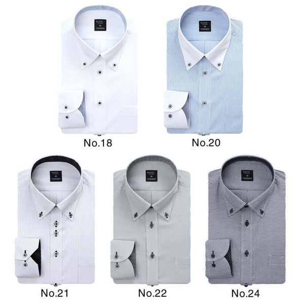 ワイシャツ メンズ 長袖  Yシャツ ボタンダウン レギュラー ビジネス シャツ  sun-ml-wd-1130 at103 宅配便のみ|atelier365|07