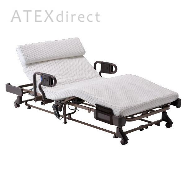 収納式 電動リクライニングベッド AX-BE638|atex-net|02