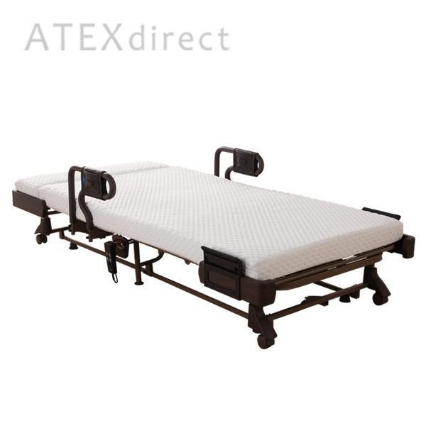 収納式 電動リクライニングベッド AX-BE638|atex-net|03