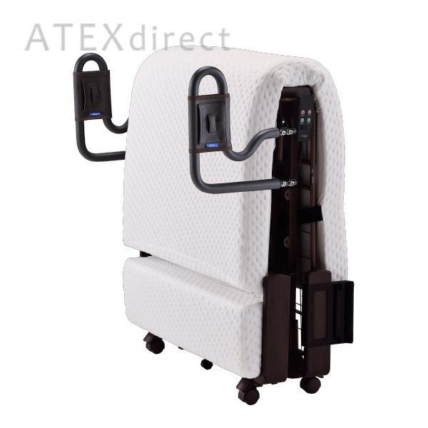 収納式 電動リクライニングベッド AX-BE638|atex-net|04