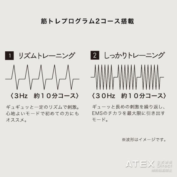 ルルド シェイプアップリボン AX-KXL5200 (EMS エクササイズ)|atex-net|06