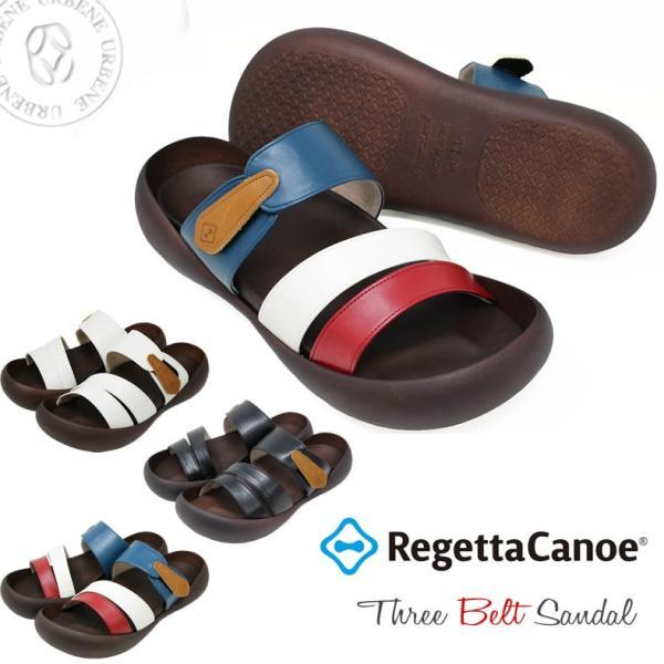 リゲッタ カヌー サンダル Regetta Canoe ベーシック ライトフット グミインソール スリーベルト サンダル メンズ靴 おしゃれ