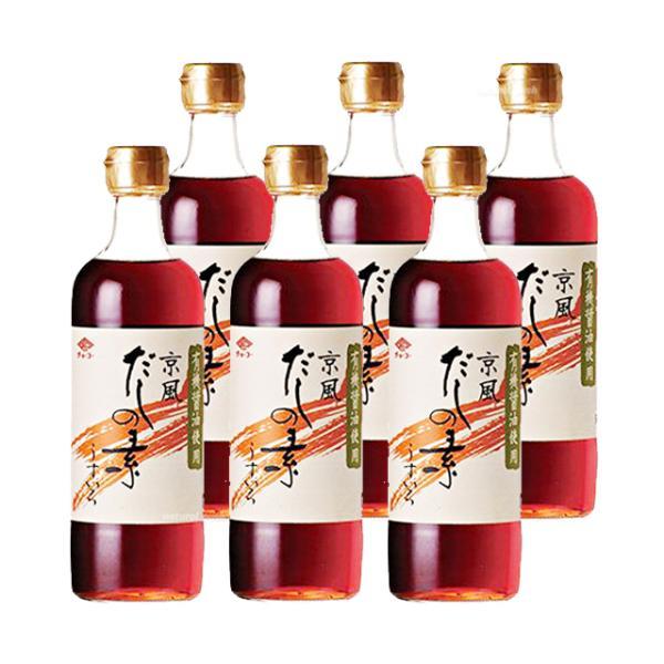 チョーコー 有機醤油使用 京風だしの素 うすいろ (瓶) 500ml×6本セット 《お取り寄せ》